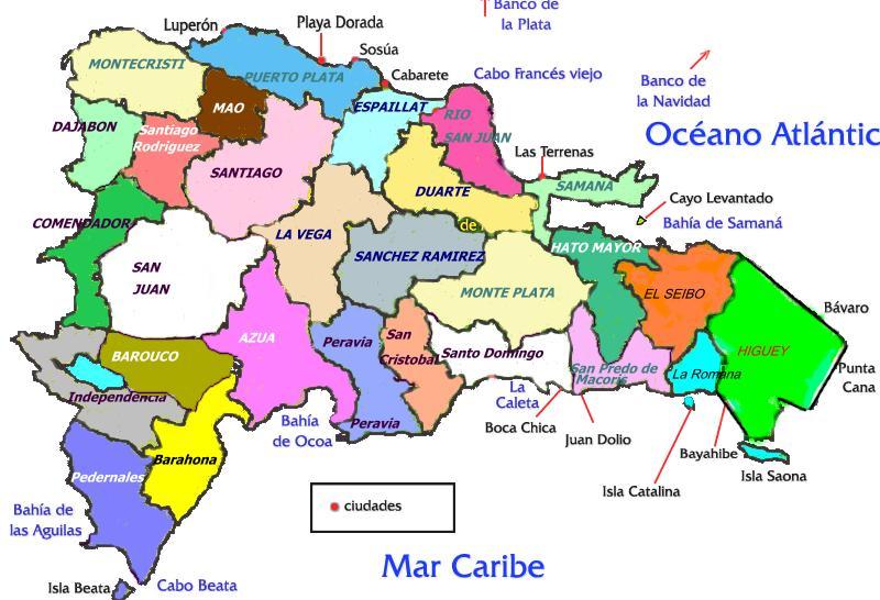 El Mapa De La Republica Dominicana